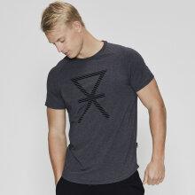 JBS of Denmark Herre - T-shirt med Print Mørk Grå Melange